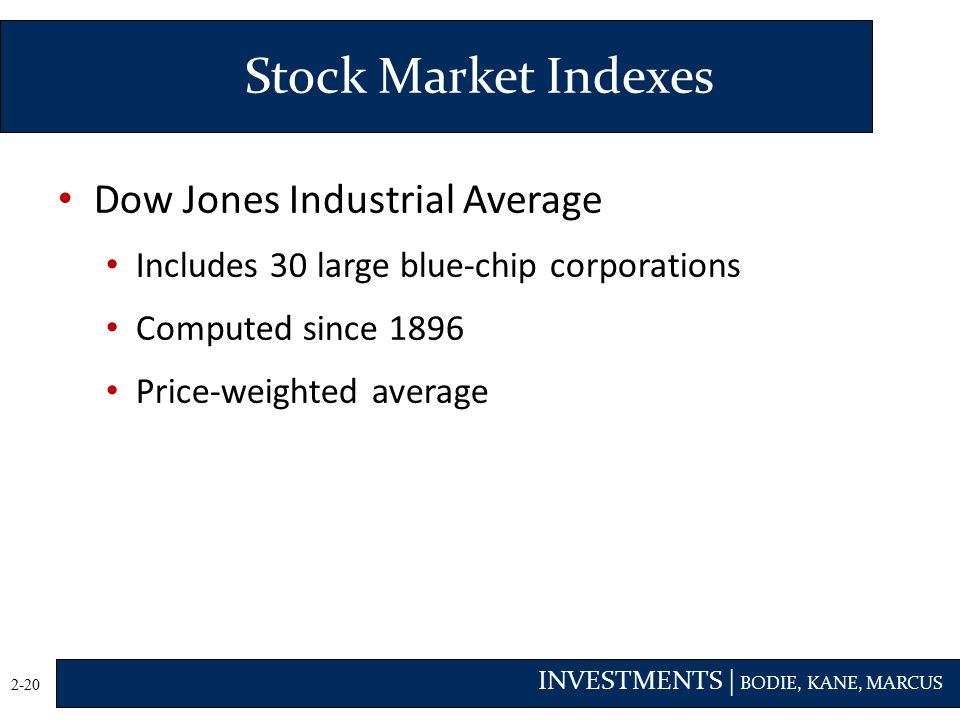 Stock Market Indexes Dow Jones Industrial Average