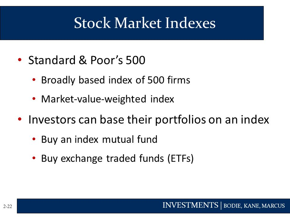 Stock Market Indexes Standard & Poor's 500