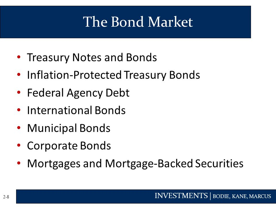 The Bond Market Treasury Notes and Bonds