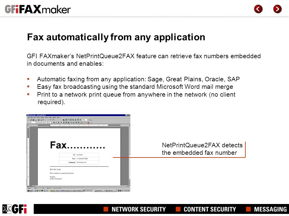 Fax automatically from any application