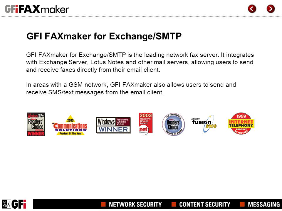 GFI FAXmaker for Exchange/SMTP