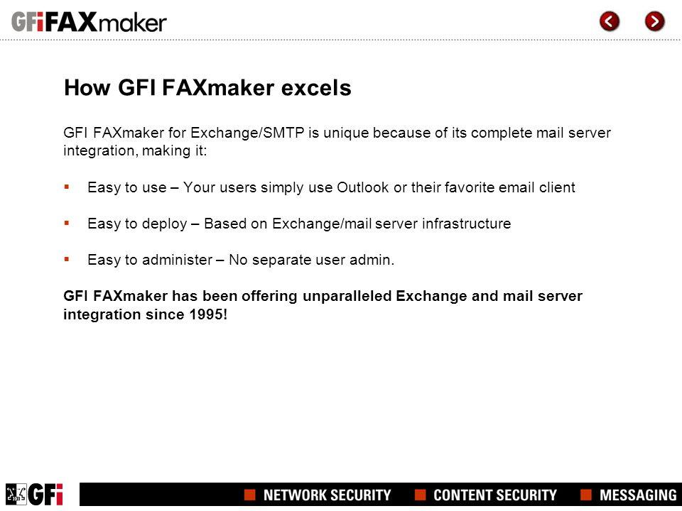 How GFI FAXmaker excels