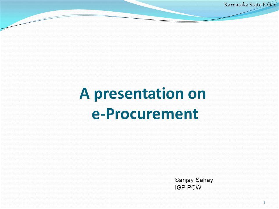 A presentation on e-Procurement