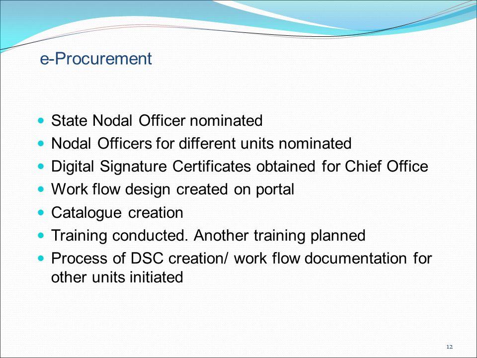 e-Procurement State Nodal Officer nominated
