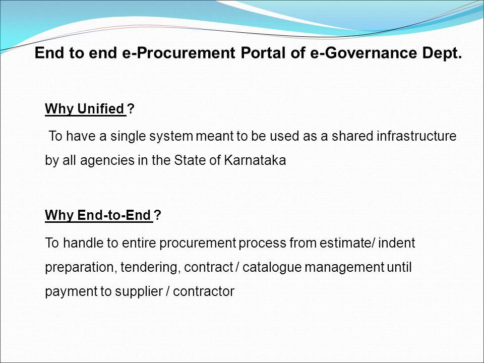 End to end e-Procurement Portal of e-Governance Dept.