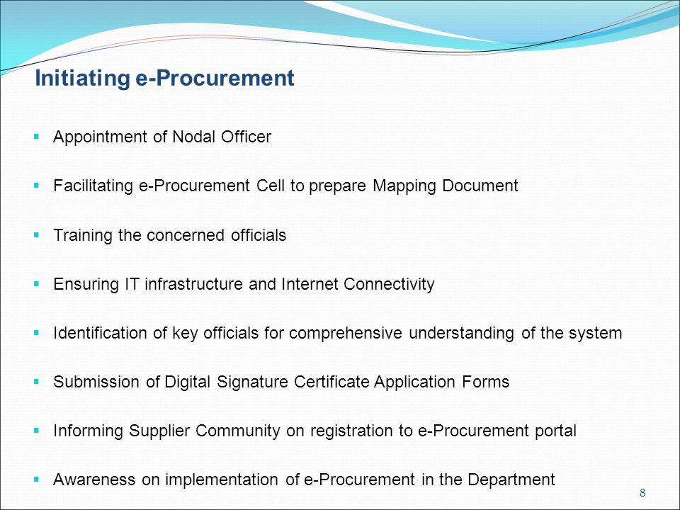 Initiating e-Procurement