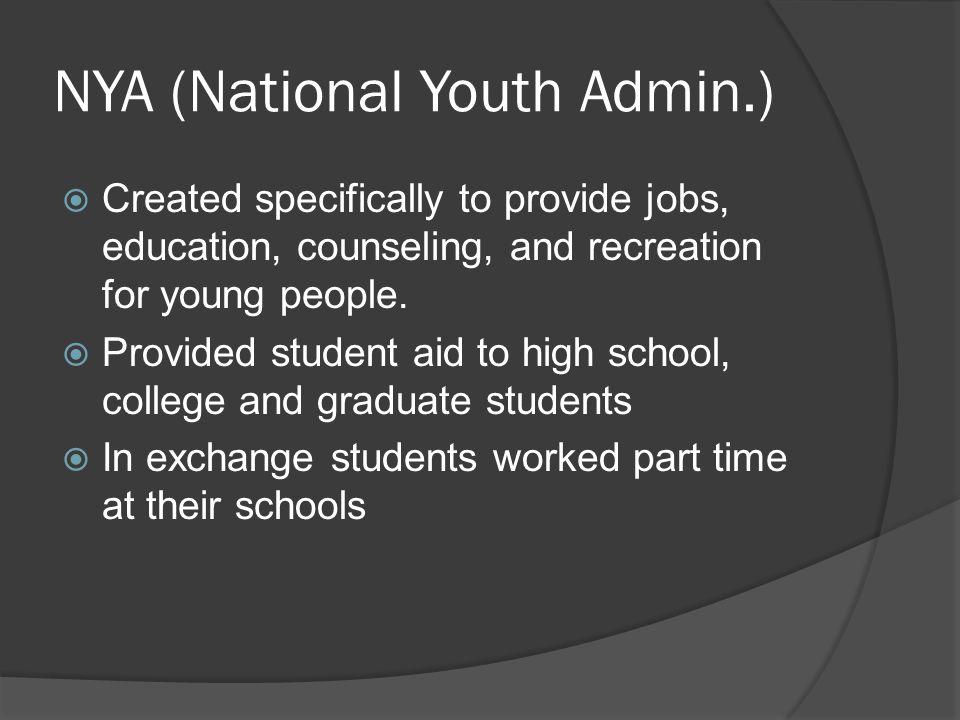 NYA (National Youth Admin.)