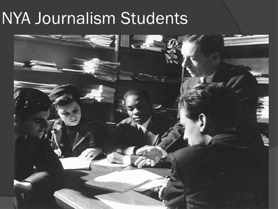 NYA Journalism Students