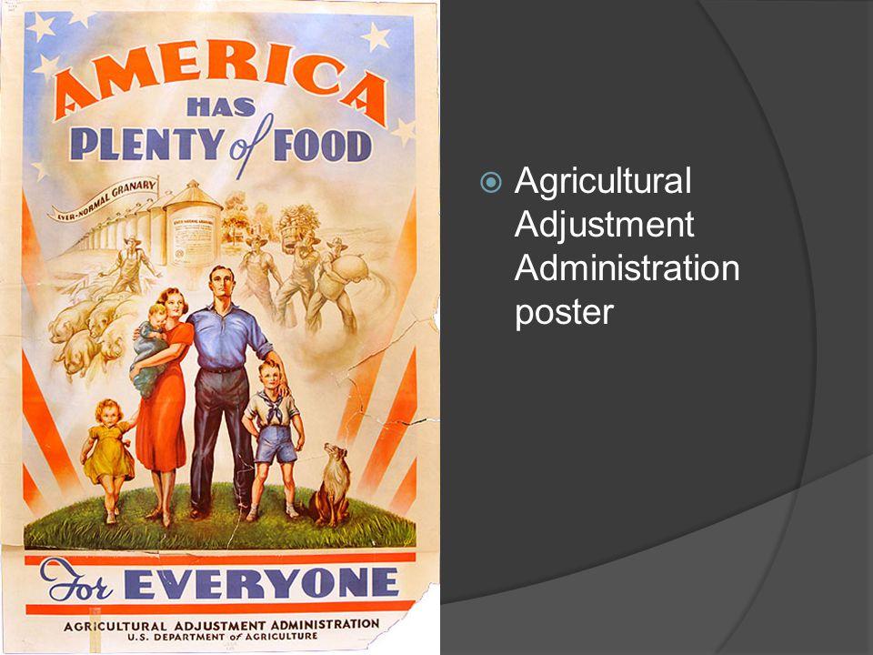 Agricultural Adjustment Administration poster