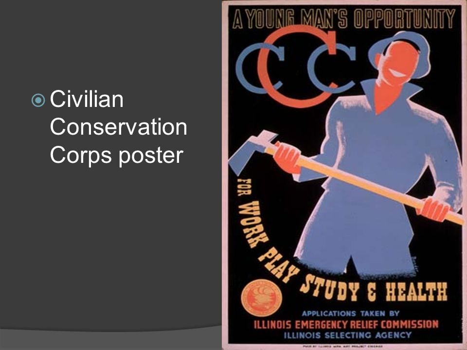 Civilian Conservation Corps poster