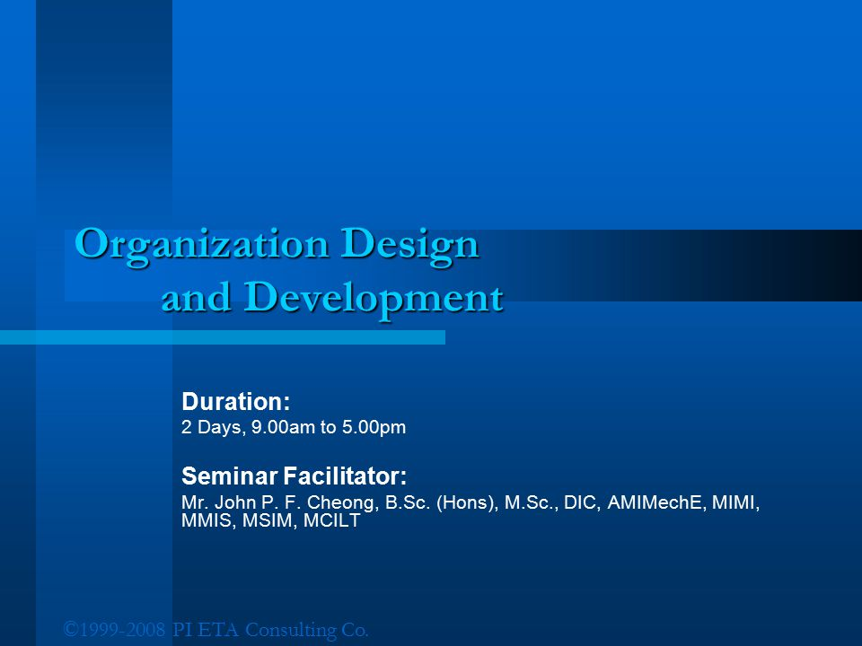 Organization Design and Development