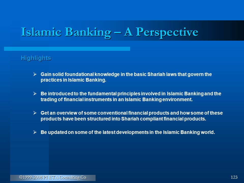 Islamic Banking – A Perspective