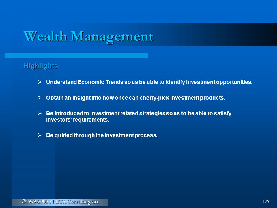 Wealth Management Highlights