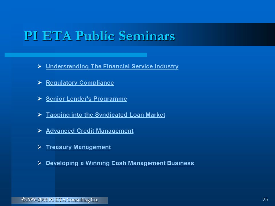 PI ETA Public Seminars Understanding The Financial Service Industry
