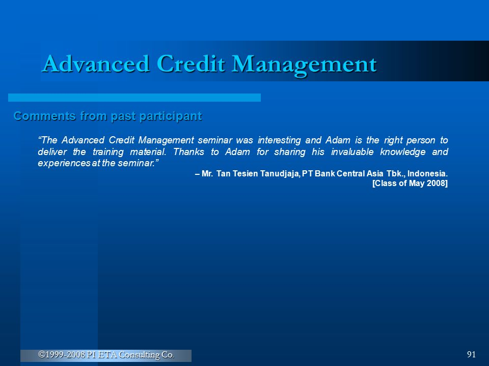 Advanced Credit Management