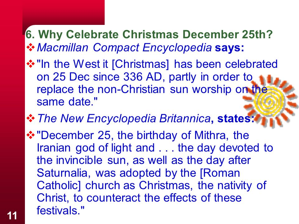 6. Why Celebrate Christmas December 25th