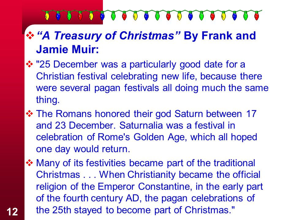 A Treasury of Christmas By Frank and Jamie Muir: