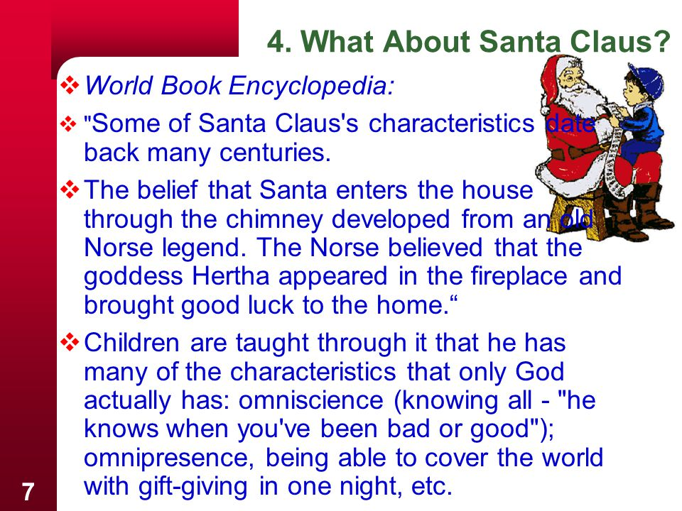 4. What About Santa Claus World Book Encyclopedia: