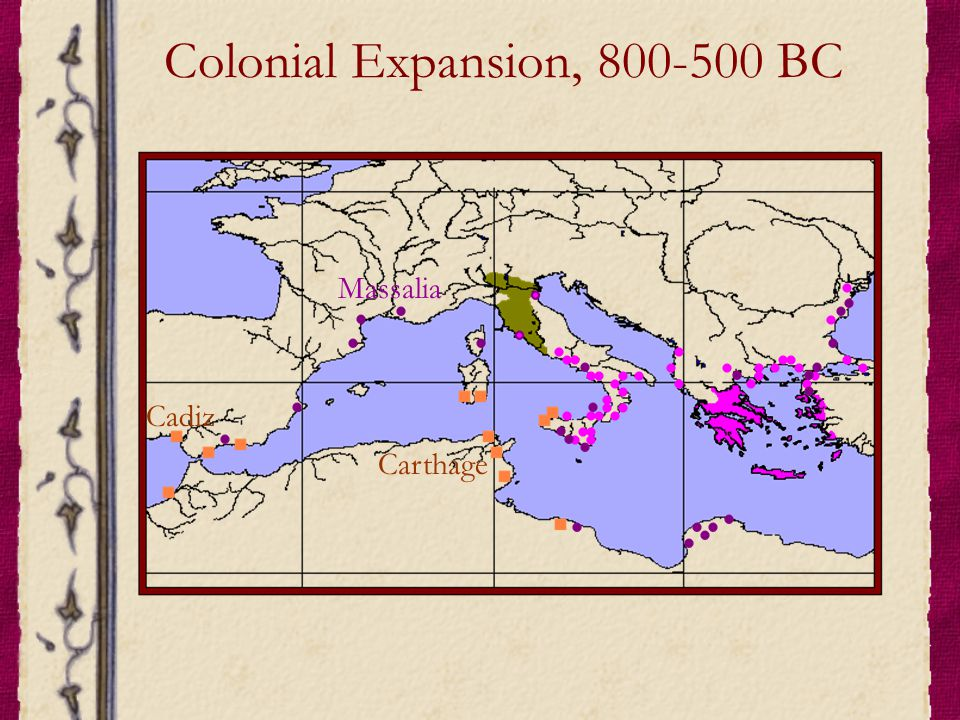 Colonial Expansion, 800-500 BC
