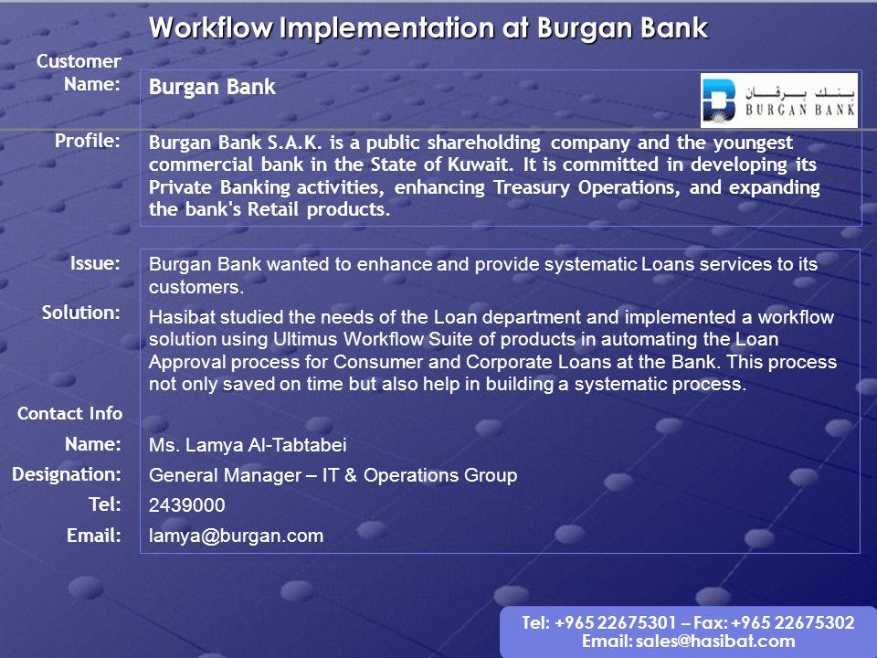 Workflow Implementation at Burgan Bank