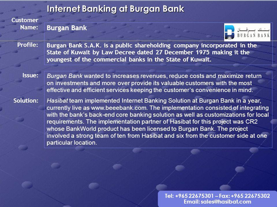 Internet Banking at Burgan Bank