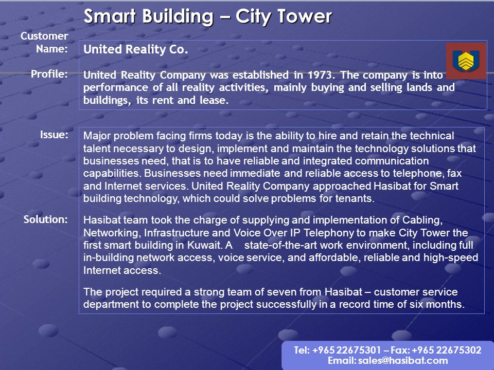 Smart Building – City Tower