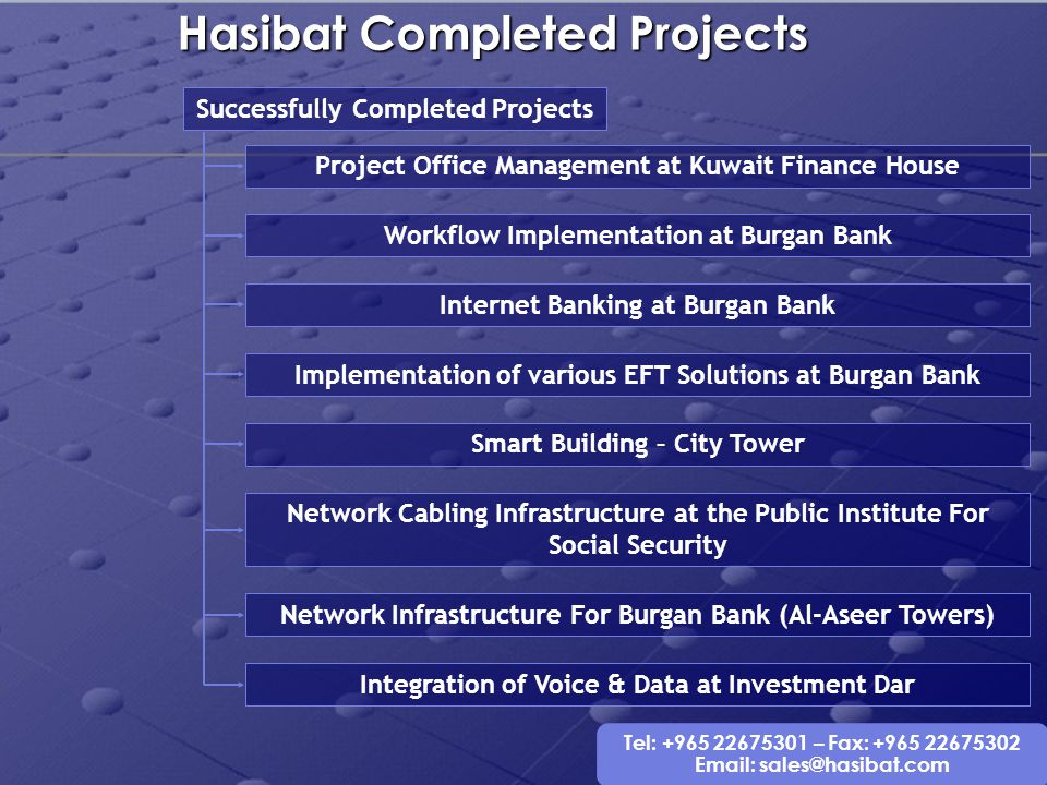 Hasibat Completed Projects