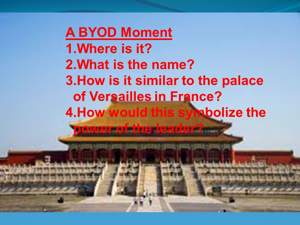 CHAPTER 16 THE EAST ASIAN WORLD 1400 – 1800 A BYOD Moment Where is it