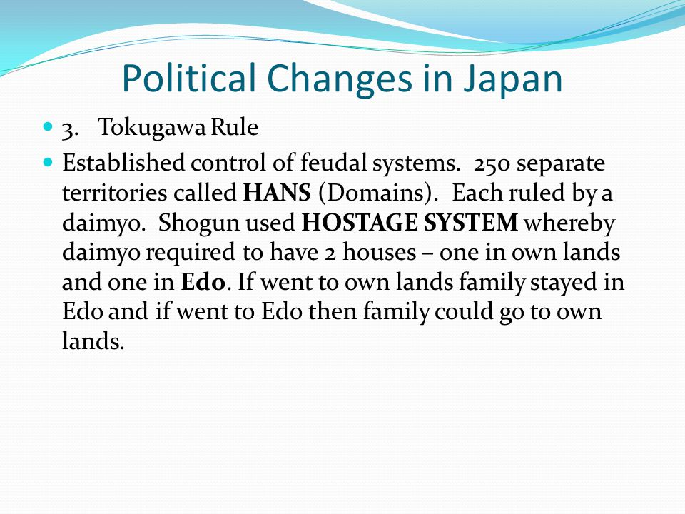 Political Changes in Japan