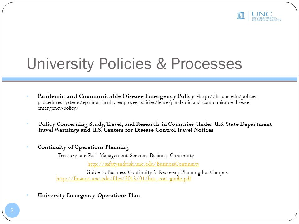 University Policies & Processes