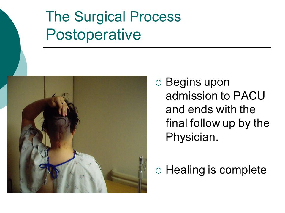 The Surgical Process Postoperative