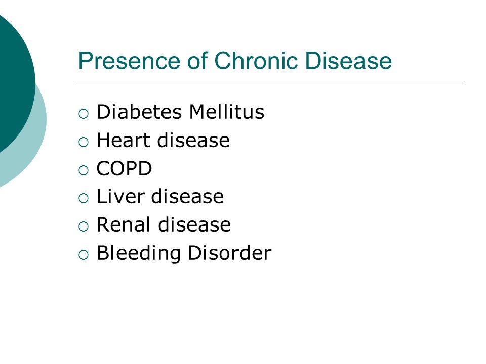 Presence of Chronic Disease