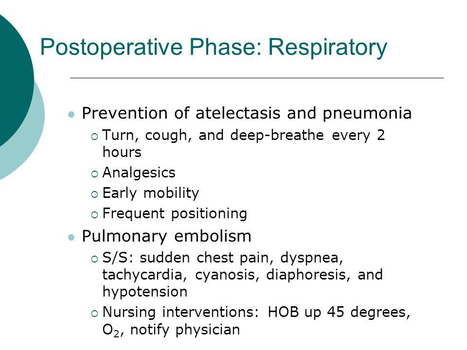 Postoperative Phase: Respiratory