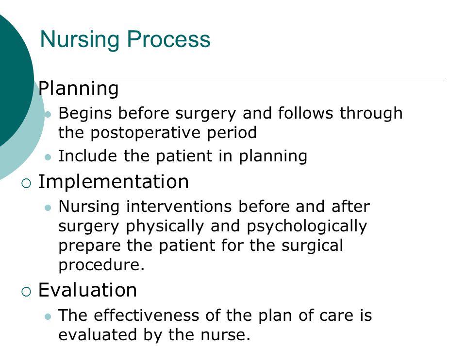Nursing Process Planning Implementation Evaluation