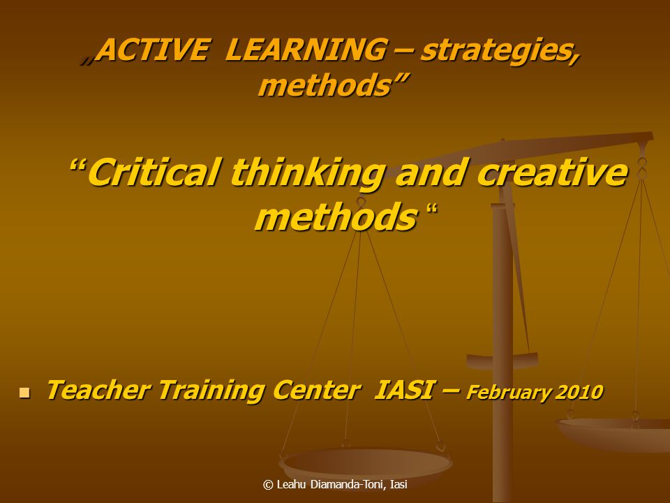 """ACTIVE LEARNING – strategies, methods"
