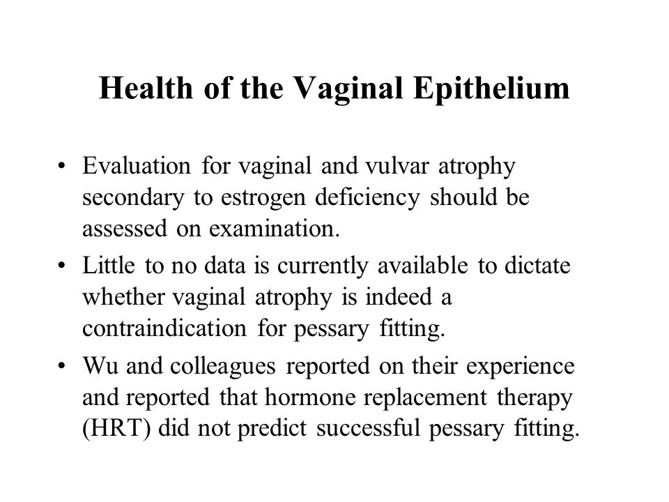 Health of the Vaginal Epithelium