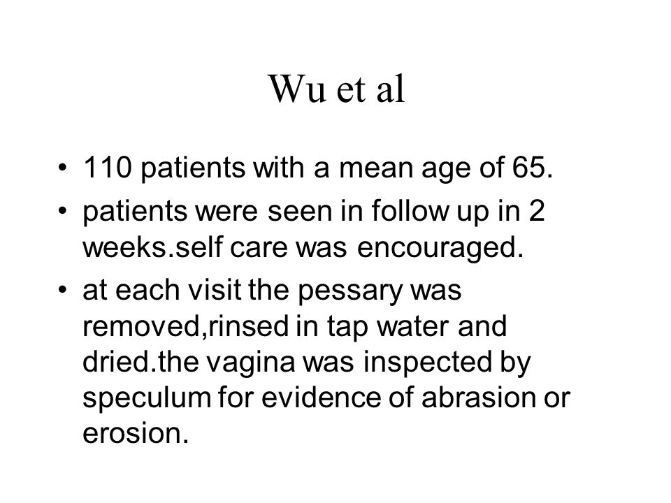 Wu et al 110 patients with a mean age of 65.