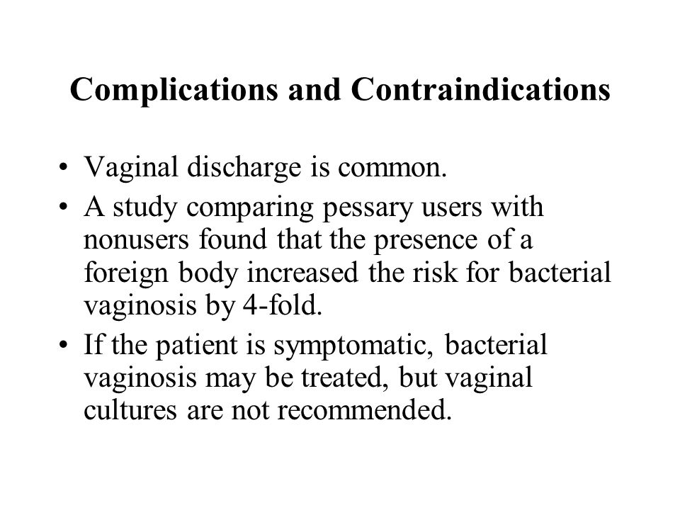 Complications and Contraindications