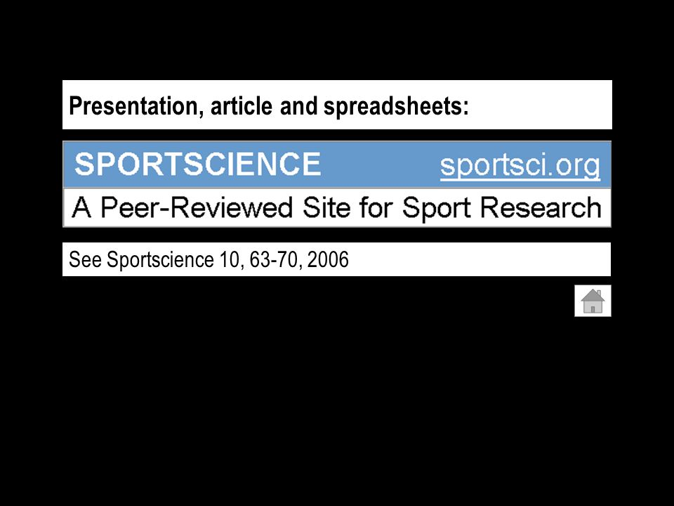 Presentation, article and spreadsheets: