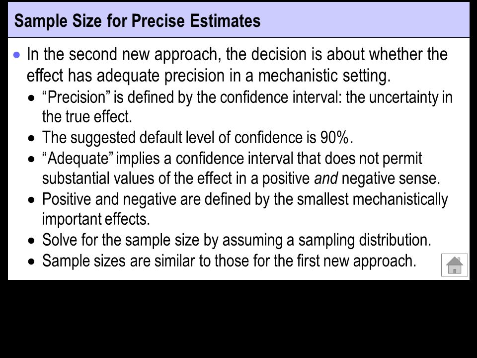 Sample Size for Precise Estimates