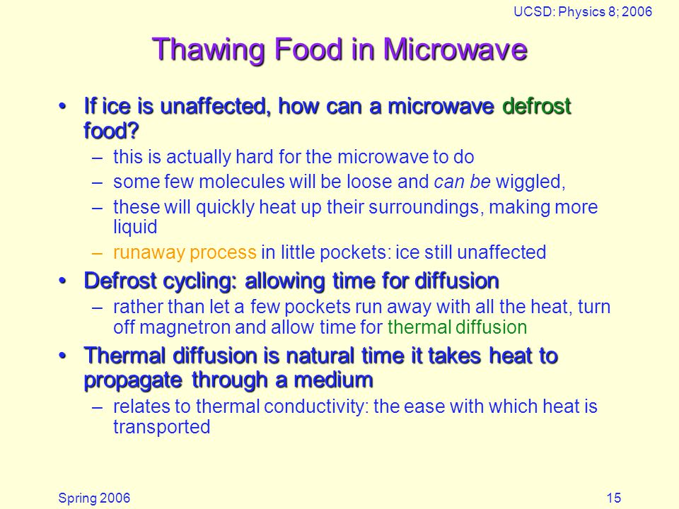 Thawing Food in Microwave