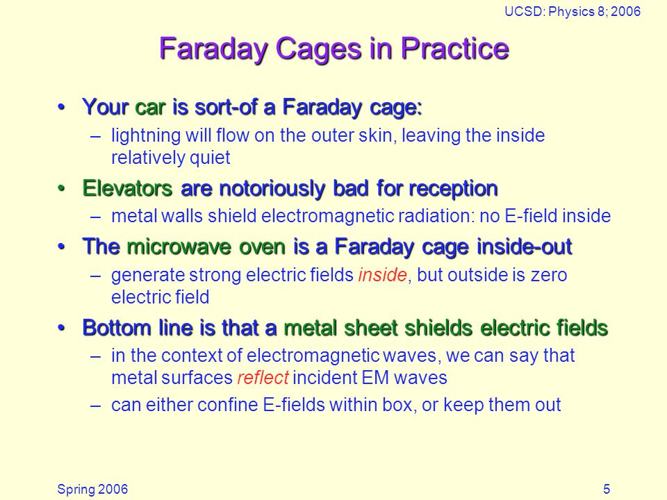 Faraday Cages in Practice
