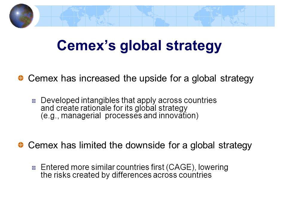Cemex's global strategy