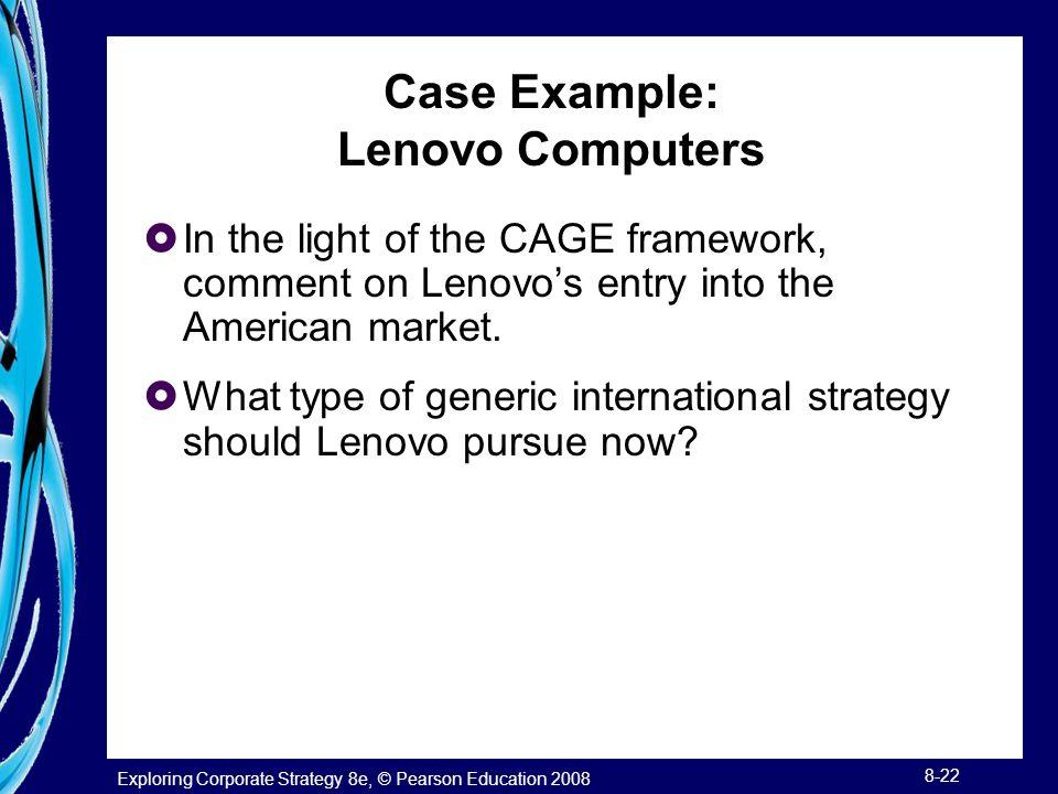 Case Example: Lenovo Computers