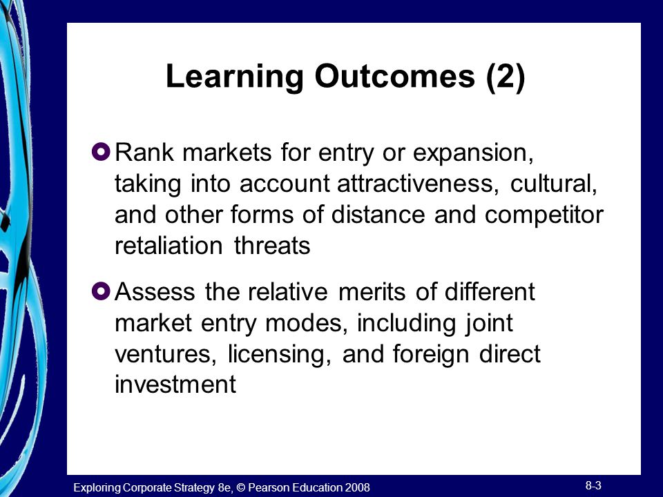Learning Outcomes (2)