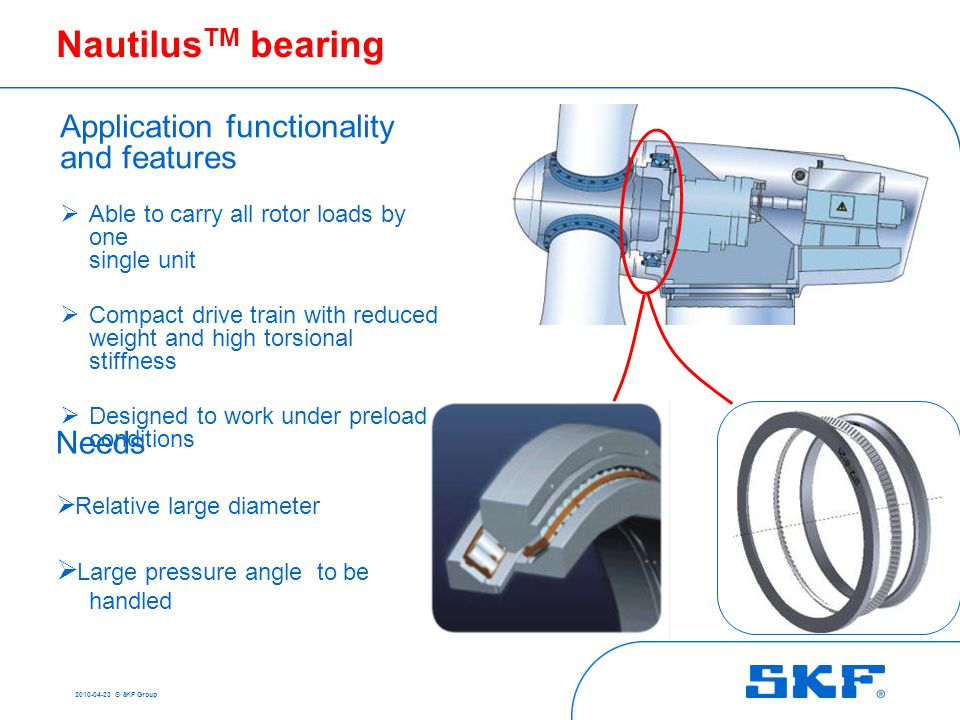 Problems of large size bearings in operation