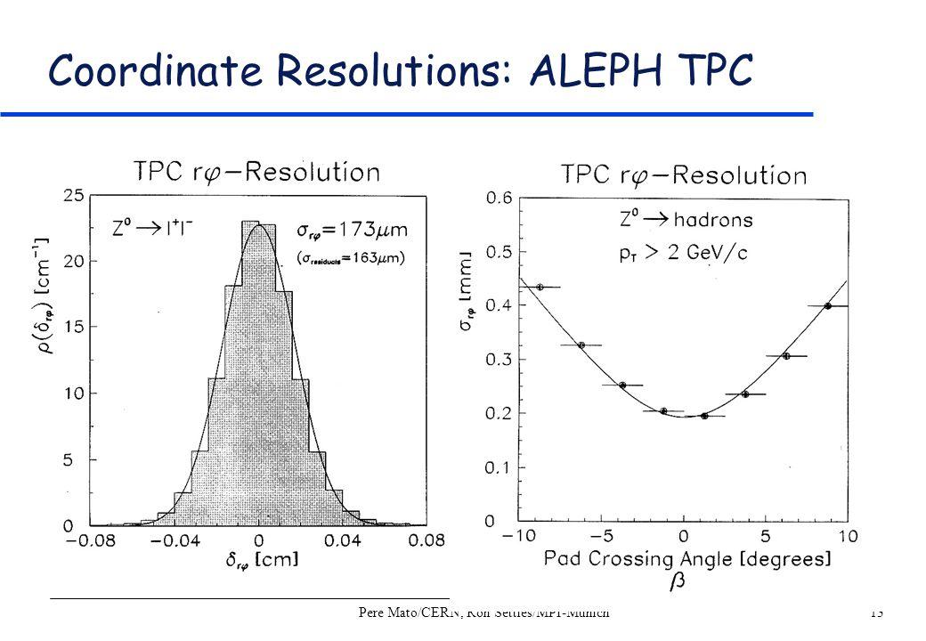 Coordinate Resolutions: ALEPH TPC