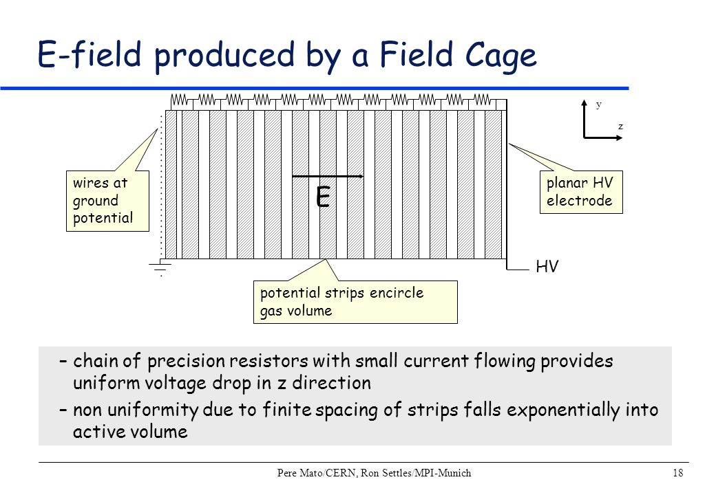 E-field produced by a Field Cage