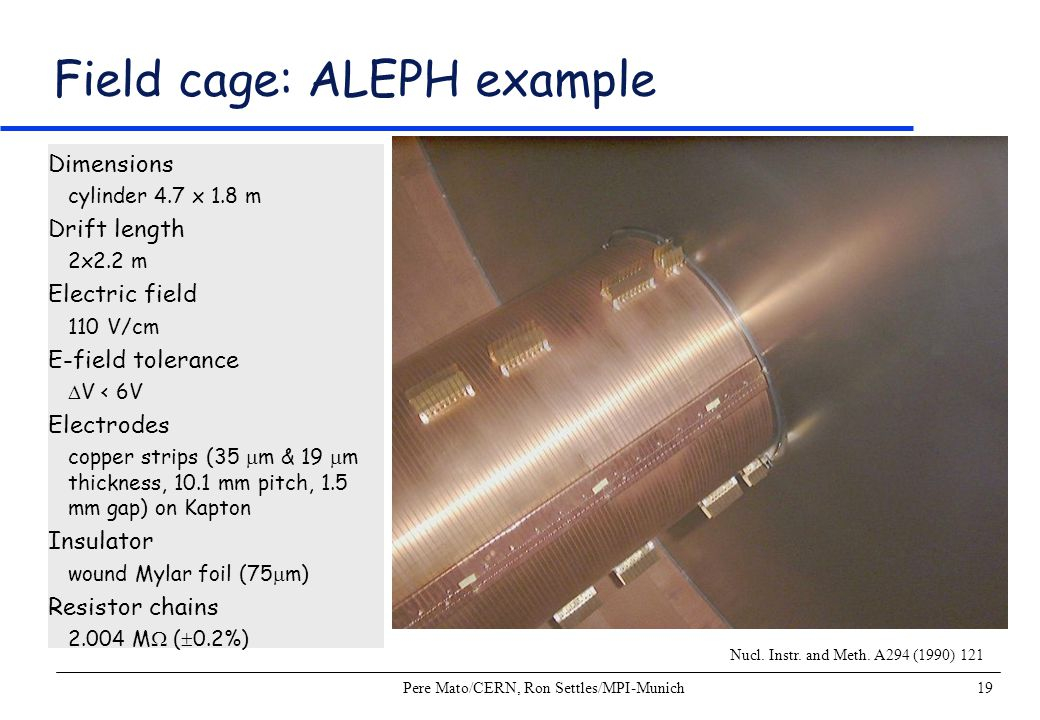 Field cage: ALEPH example