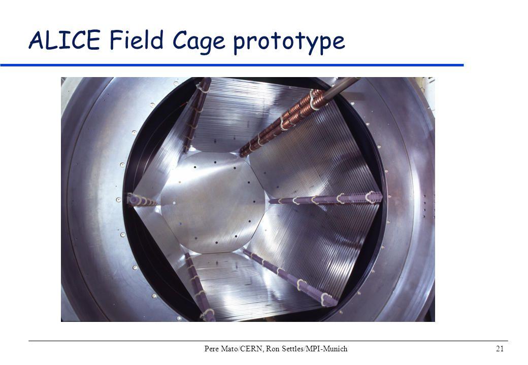 ALICE Field Cage prototype